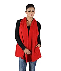 Owncraft Women's Woolen Capes (Own_125_Red_Small)