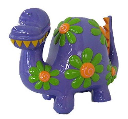 "Purple Dinosaur Piggy Bank - 12"""