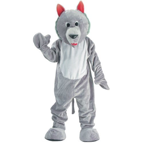 Dress Up America Hungry Wolf Mascot, Grey, One Size