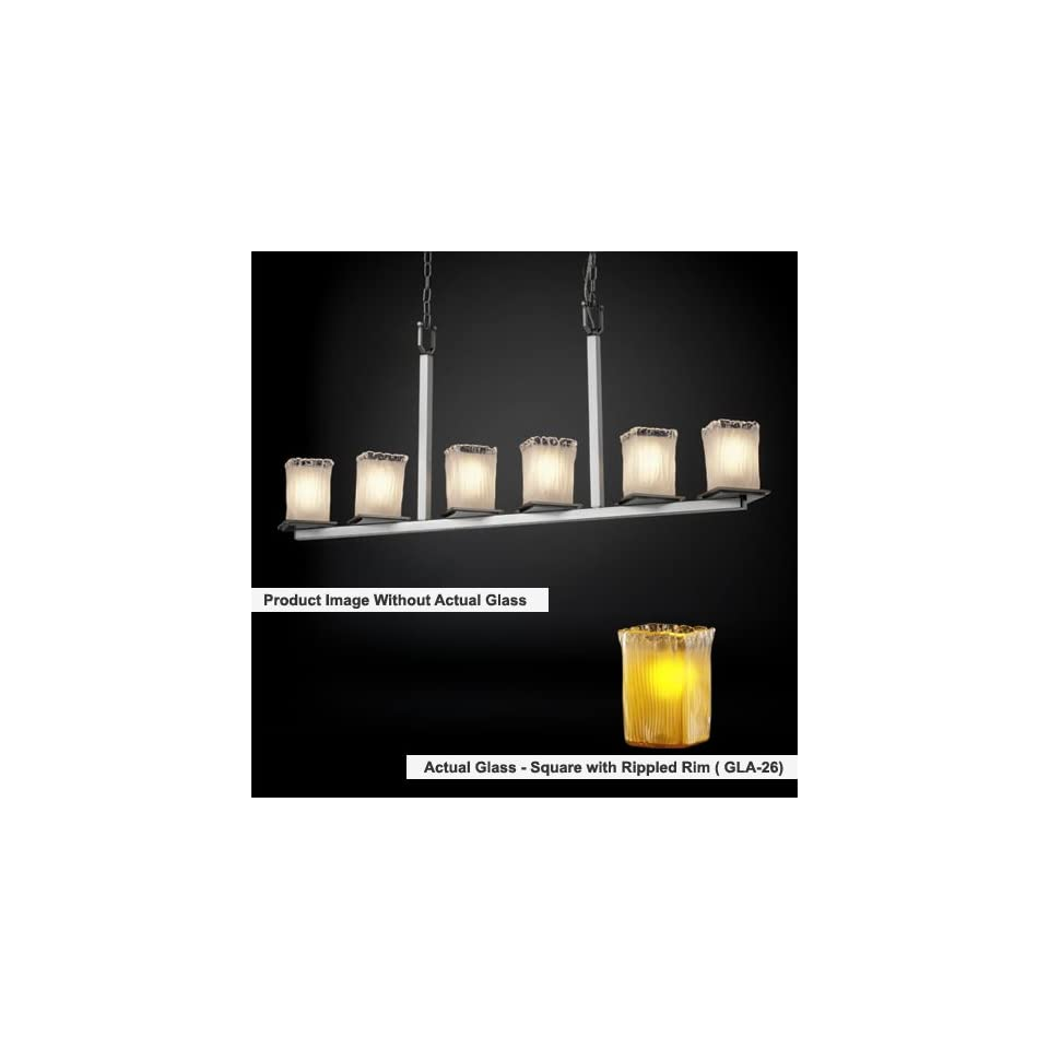 Justice Design Group FAL 8679 Montana 6 Light Bar Chandelier