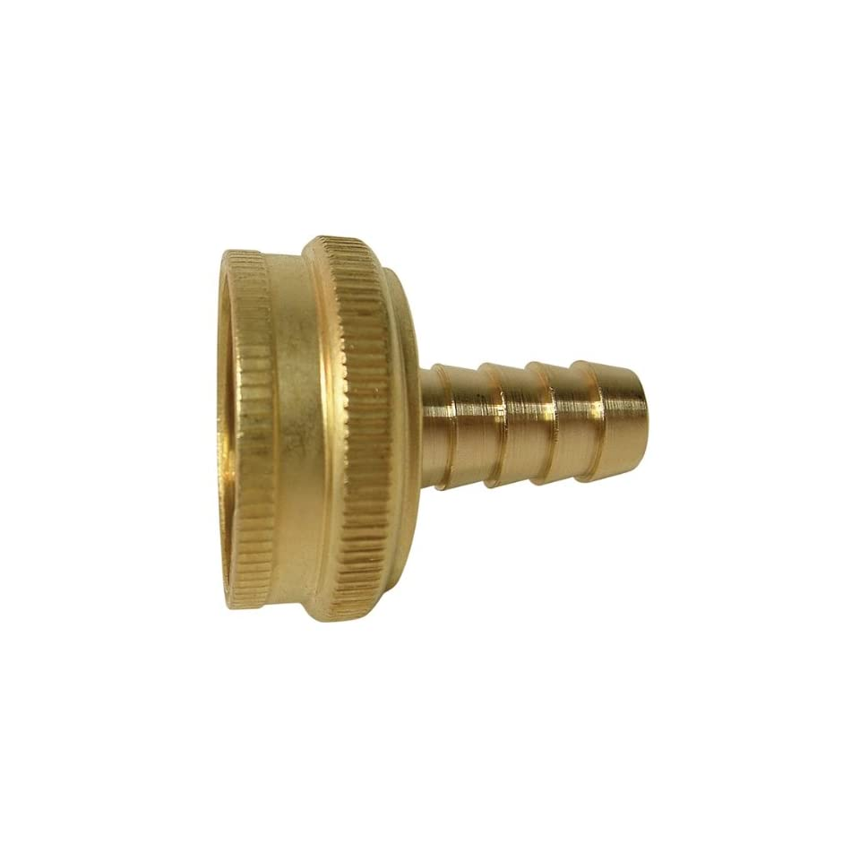 Watts A 684 Brass Swivel Garden Hose Barb Adapter 3/4 x 1/2 Barb GH10 12 8