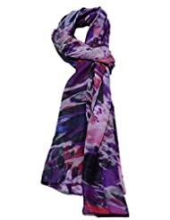 Boun Fashions Purple Color Trendy Silk Scarf