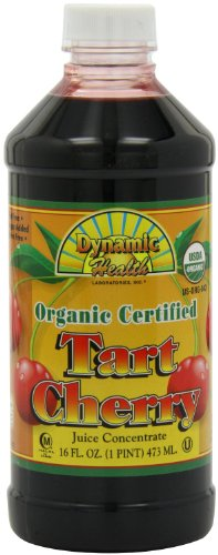 Buy Discount Dynamic Health 100% Pure Organic Certified Tart Cherry Juice Concentrate, 16-Ounce (Pac...