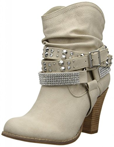 Not Rated Women'S Double Dip Harness Boot,Cream,7.5 M Us