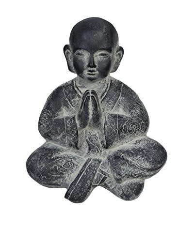 Oriental Figura Decorativa Buda Gris