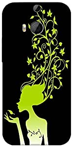 Snoogg Womens Brain 2488 Designer Protective Back Case Cover For Htc One M8