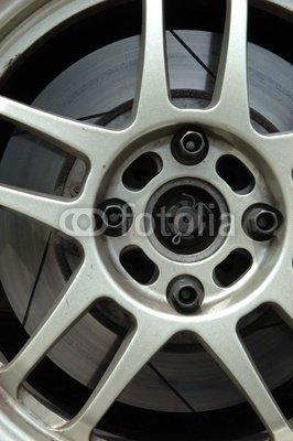 Wallmonkeys Peel and Stick Wall Decals - Racing Car Wheel Rim - 18