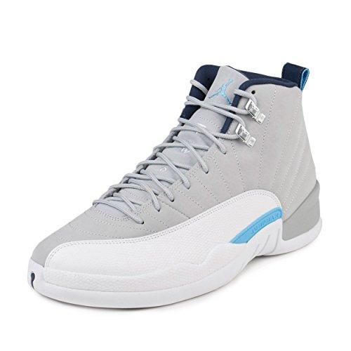 1d8c7f6fa0777b Air Jordan 12 Retro UNC University North Carolina xii Men Lifestyle  Sneakers Wolf Grey - 8.5