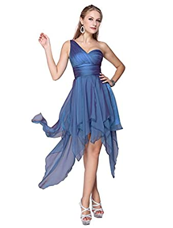 HE06093BL08, Blue, 6US, Ever Pretty Summer Prom Dresses For Women 06093