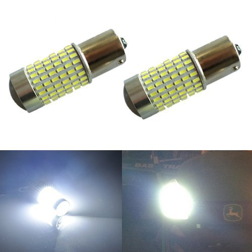 JDM ASTAR 1200 Lumens Extremely Bright 144-EX Chipsets 1156 1141 1073 7506 LED Bulbs with Projector , Xenon White (1156 Led Bulb compare prices)