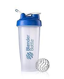 28 Oz. Blender Bottle W/wire Shaker Ball- Pack of 2, Black/blue