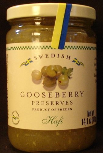 Hafi Gooseberry Preserves 14.1 OZ Imported from Sweden