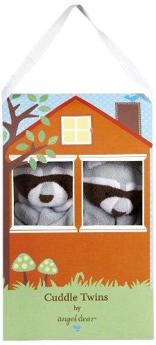 Angel Dear Cuddle Twin Set, Greyish Blue Raccoon