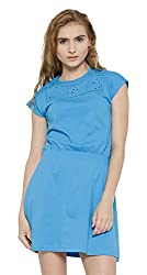Sera Women's Dress (LA2270-Blue-XXL, Blue, XX-Large)