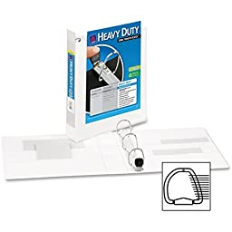 Heavy-Duty View Binder with One Touch EZD Rings, 1-1/2\'\' Capacity, White, Sold as 1 Each