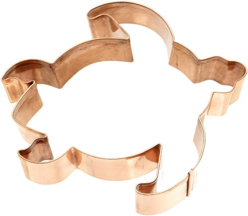 Old River Road Sea Turtle Shape Cookie Cutter, Copper