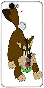 Snoogg Cat Designer Protective Back Case Cover For Lg Google Nexus 6P