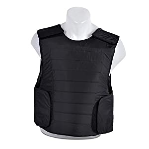 Body Armor Clothing Vest (Black) Bullet Proof Body Armor V.I.P. Protection Level 3A (IIIA) Made in Israel, Israel Defence Force Goldflex Kevlar (NIJ Certified) BPV-2052 Size M