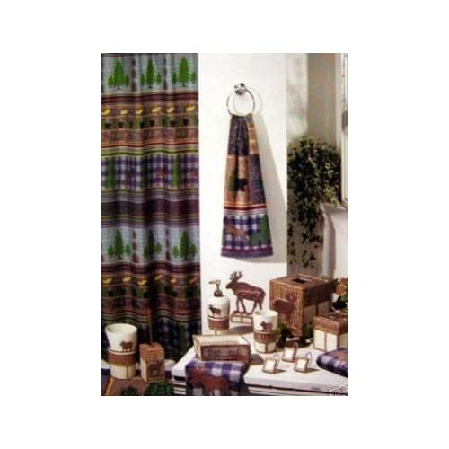 Cabin Fever Fabric Shower Curtain Moose Lodge