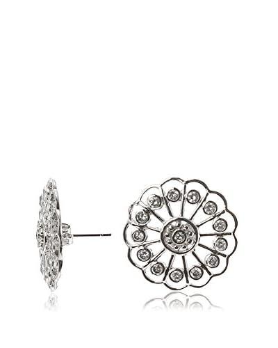 Jardin CZ Open Flower Earrings