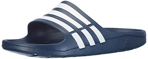 adidas Originals - Duramo Slide, infradito da unisex adulto, Blu (Blau (NEW NAVY / WHITE / NEW NAVY)), 50