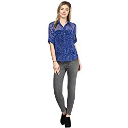 LY2 Blue print Shirt for stunning look