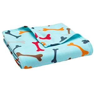 Dog Bones Fleece Throw by Home Classics