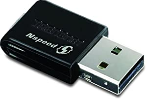 TRENDnet Wireless N 150 Mbps Mini USB 2.0 Adapter, TEW-649UB