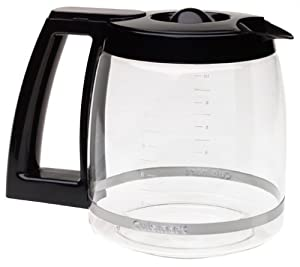 Cuisinart DCC-1200PRC 12-Cup Replacement Glass Carafe, Black (2, 12 Cup)