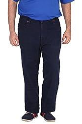 Xmex Men's Peach Denim Jeans (Jd-991Raw-40, Blue, 40)