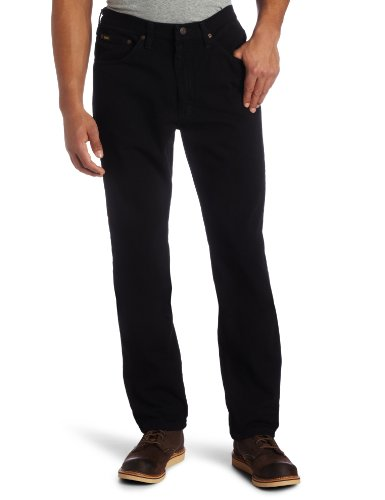 Lee Men's Regular Fit Straight Leg Jean, Double Black, 32W x 32L