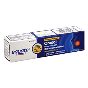 Equate - Orasol, Oral Anesthetic Gel, Benzocaine 20%, 0.33 oz (Compare to Anbesol Gel)