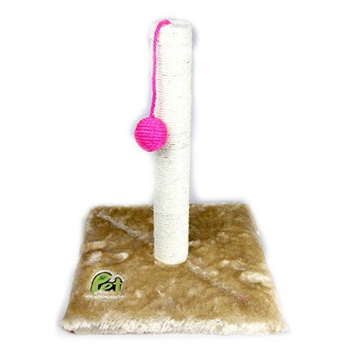 Cat Scratching Post with Sisal Rope and Hanging Ball - Interactive Activity Cat Trees and Towers Toy for Small Medium & Large Cats by Pet Magasin