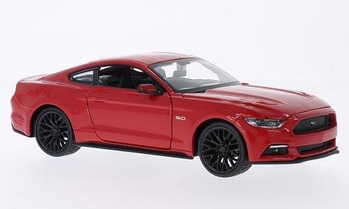 ford-mustang-gt-rot-2015-modellauto-fertigmodell-maisto-124