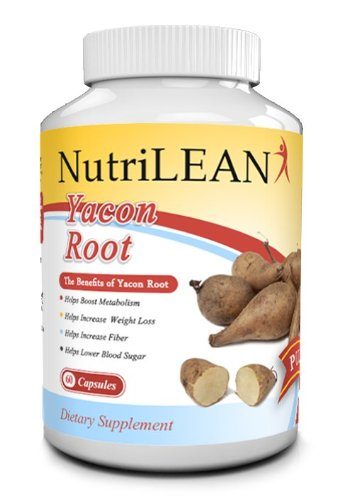 * Yacon Root Extract Pills * 1000Mg Dose In 2 Capsules, Weight Loss, Vegan, Natural* Free Metabolism Boost, Suppresses Appetite, Aids Healthy Digestion & Regularity With High Fiber, All Gluten Free, Non Gmo, 100% Guarantee!