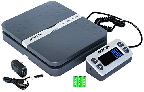 Accuteck ShipPro 110lbs x 0.1 oz. Digital Shipping Postal Scale, Gray (W-8580-110-Gray) (Accuteck Digital Postal Scale compare prices)