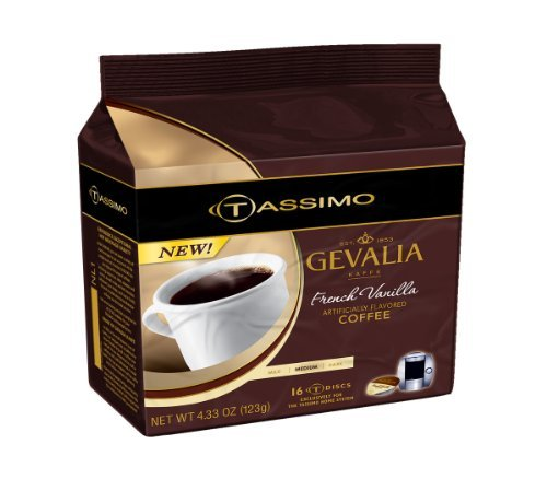 Gevalia French Vanilla, 16-Count T-Discs for Tassimo Coffeemakers (Tassimo Vanilla Coffee compare prices)