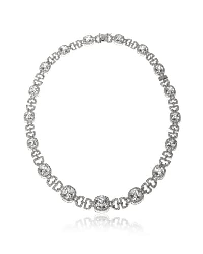 CZ by Kenneth Jay Lane Cushion Gate CZ Statement Necklace