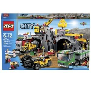 Amazing LEGO City 4204 The Mine With Articulated Cab, Rotating Cabin, Moving Arm (Lowering Shovel) Jouets, Jeux, Enfant, Peu, Nourrisson
