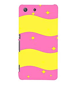 EPICCASE Pink n Yellow Pattern Mobile Back Case Cover For Sony Xperia M5 (Designer Case)