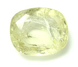 LOOSE 100% NATURAL & CERTIFIED 5.70 ct. YELLOW SAPPHIRE BIRTHSTONE BY ARIHANT GEMS & JEWELS
