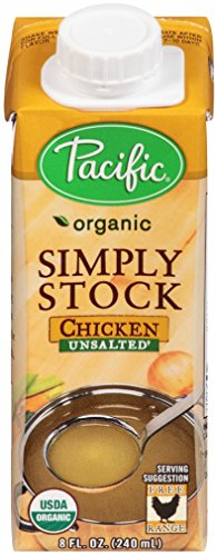 Pacific Foods Organic Simply Stock, Unsalted Chicken Stock, 8-Ounce Cartons, 12-Pack (Chicken Stock 8oz compare prices)