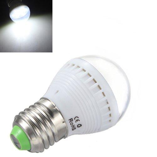 E27 2.5W Pure White 7 Smd 5050 Led Light Ball Bulb 110-240V