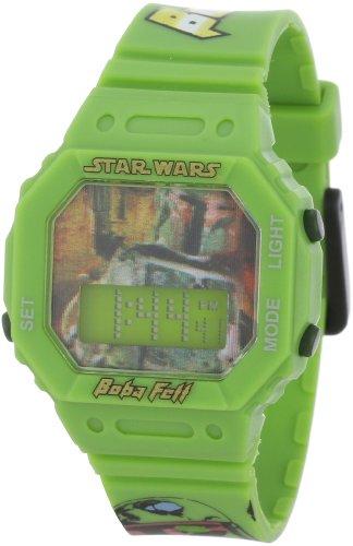 Star Wars Kids' 9006142 Star Wars Boba Fett Digital Strap Watch