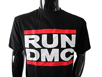 Run DMC Mens Shirt (Small, Black)