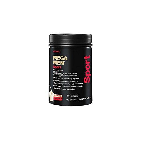 Gnc Men'S Mega Men Sport, Vanilla Bean 2.37 Lbs (1080 G)