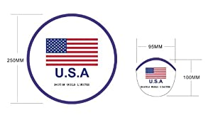 Foldable Collapsible Frisbee Fan With Pouch U.S.A Flag USA - Buy One Get One Free