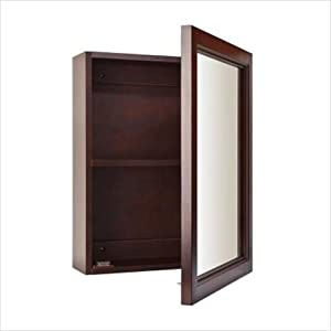 Broan 780989 Sheridan 15 X 19 Single Door Wood Medicine Cabinet Mirrored Wood