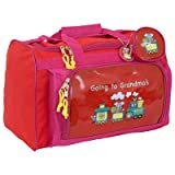 Going to Grandma's Children's Club Bag Color: Red/pink trim