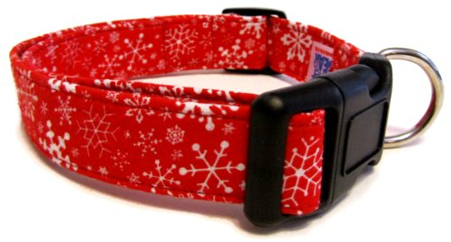 Red with White Snowflakes Collar